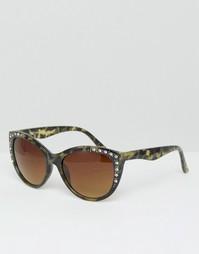 Солнцезащитные очки кошачий глаз 7X - Черный