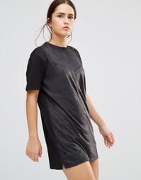 Платье в замшевом стиле Uncivilised Nevada - Черный