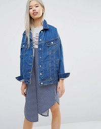 STYLENANDA Oversized Denim Jacket - Синий