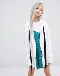 STYLENANDA Oversized Hoodie With Extreme String Detail - Белый