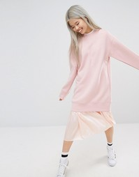 STYLENANDA Longline Sweatshirt - Розовый