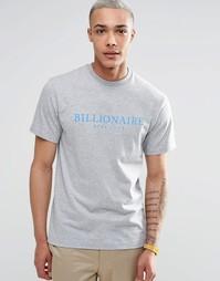 Футболка с крупным логотипом Billionaire Boys Club - Синий