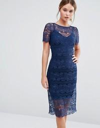 Кружевное платье с моделирующим эффектом Body Frock Lisa - Темно-синий