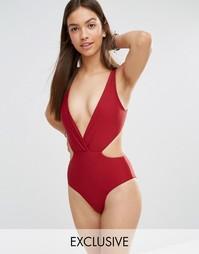 Слитный купальник South Beach - Красный