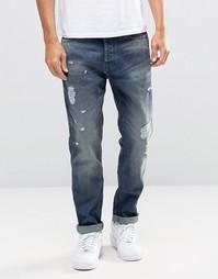 Светлые выбеленные джинсы с рваной отделкой Jack & Jones - Черный