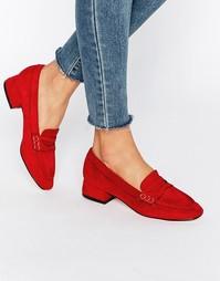 Мягкие лоферы на низком каблуке Truffle - Красный