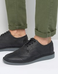 Кожаные броги Toms - Черный