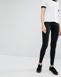 Dr Denim Plenty High Waist Coated Skinny Jeans - Черный
