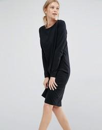 Трикотажное платье с длинными рукавами Dr Denim - Черный