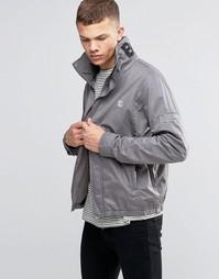 Серая куртка с воротником-стойкой Bench - Серый