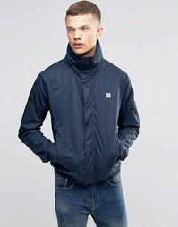 Темно-синяя куртка с воротником-стойкой Bench - Темно-синий