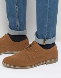 Бежевые замшевые туфли дерби Red Tape - Бежевый