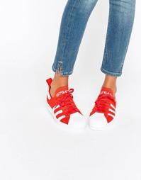 Кроссовки Adidas Superstar 80s - Красный