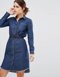 Джинсовое платье‑рубашка Uncivilised Austin - Синий