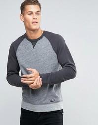 Серый свитшот с контрастными рукавами Abercrombie & Fitch - Серый