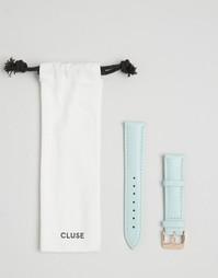 Светло-бирюзовый кожаный ремешок для часов Cluse La Boheme CLS032 - Зеленый