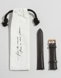 Cluse La Boheme Black & Rose Gold Leather Strap CLS001 - Черный