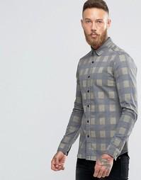Джинсовая рубашка скинни ASOS - Зеленый