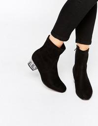 Ботинки на среднем прозрачном каблуке Truffle Collection - Черный