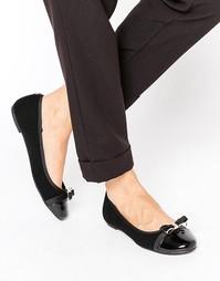 Черные лакированные туфли на плоской подошве Head Over Heels By Dune Hadisia - Черный