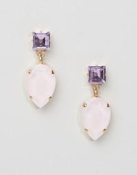 Серьги с кристаллами Swarovski Krystal - Розовый