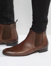 Кожаные ботинки челси ASOS - Рыжий Base London