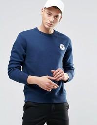 Синий свитшот с круглым вырезом и нашивкой Converse Chuck 10002133-A03 - Синий