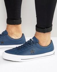 Синие кроссовки Converse One Star 153716C-410 - Синий