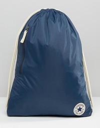 Рюкзак на шнурке с логотипом Converse - Темно-синий