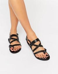 Кожаные сандалии с ремешками Park Lane - Черный