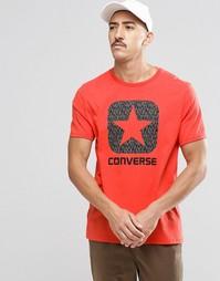 Футболка со светоотражающим принтом 10002801-A03 - Красный Converse