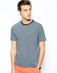 Зауженная футболка в полоску с карманом Dockers Alpha - Синий