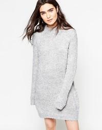Платье-джемпер с высоким воротом JDY - Серый