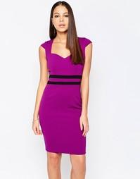 Платье-футляр с контрастной вставкой на талии Vesper Evie - Фиолетовый