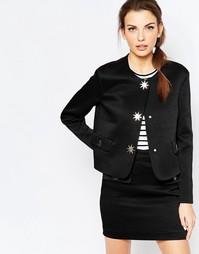 Куртка прямого кроя на пуговицах Love Moschino - Черный