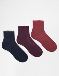 Комплект из 3 пар носков Ruby Rocks - Фиолетовый