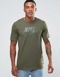 Зеленая футболка с логотипом Nike SB 821946-325 - Зеленый