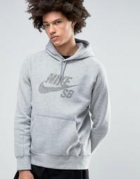 Худи серого цвета Nike SB 833903-063 - Серый