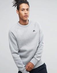Серый свитшот с круглым вырезом Nike SB Icon 800153-063 - Серый