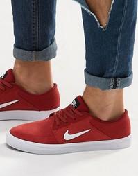Красные кроссовки Nike SB Portmore 725027-602 - Красный