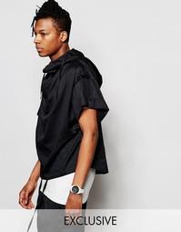 Рубашка с капюшоном и короткими рукавами Unplugged Museum - Черный