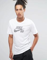 Белая футболка Nike SB Icon Dots 844107-101 - Белый
