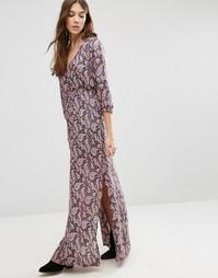 Платье макси с принтом пейсли Blend She - Мульти
