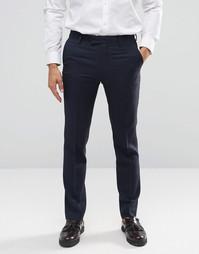 Фланелевые брюки зауженного кроя Farah - Темно-синий