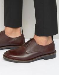 Бордовые кожаные туфли на шнуровке KG By Kurt Geiger Godalming - Красный
