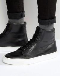 Черные кожаные кроссовки KG By Kurt Geiger Glastonbury - Черный