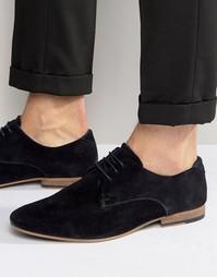 Темно-синие замшевые туфли дерби KG By Kurt Geiger Dorchester - Синий