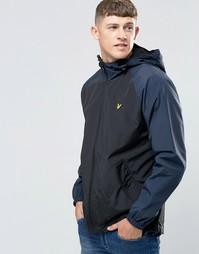 Черная куртка с контрастными рукавами Lyle & Scott - Черный