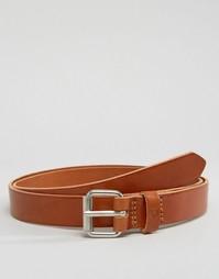 Светло-коричневый кожаный ремень Fjallraven Singi 2,5 см - Рыжий