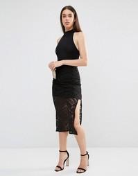 Кружевная юбка TFNC - Черный